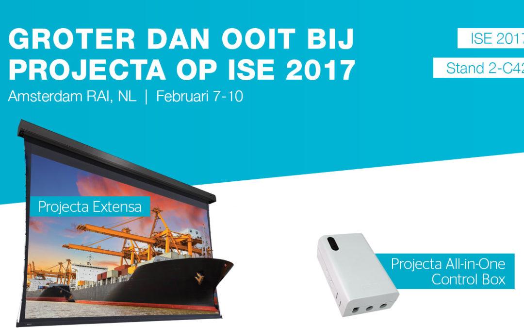Nieuwe projectiescherm-oplossingen van Projecta op ISE 2017