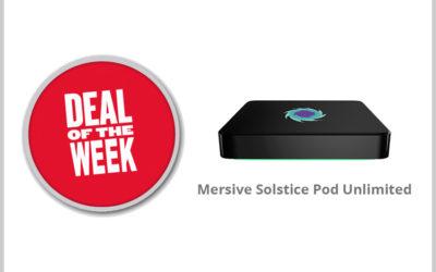 Weekdeal week 2: De Solstice Pod