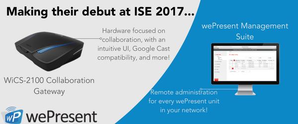 Debuut op de ISE 2017, de wePresent WiCS-2100