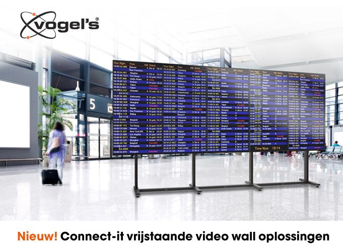 Professionele vrijstaande video wall oplossingen van Vogel's