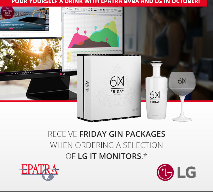 Pour yourself a drink with Epatra bvba and LG in October!