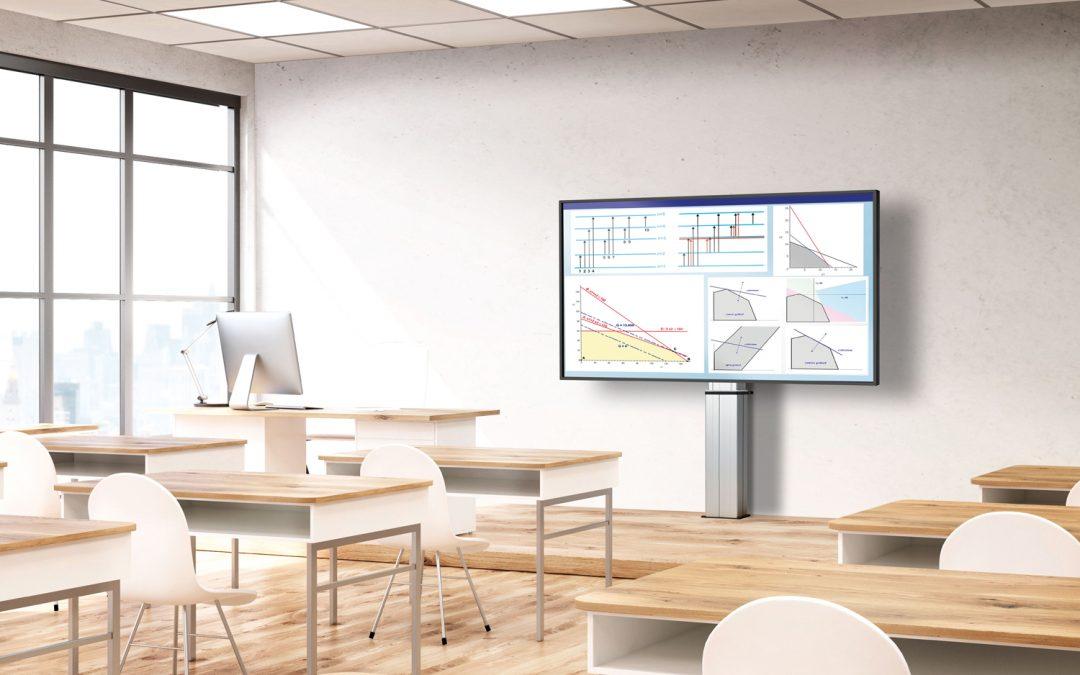 Vogel's gemotoriseerde display-lift tilt scherm naar hoger niveau