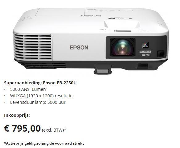 Superaanbieding: Epson EB-2250U