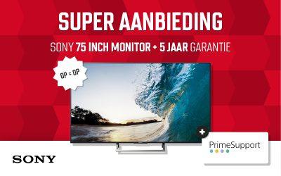 SUPERAANBIEDING 75 inch SONY monitor + 5 jaar garantie